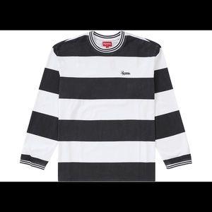Supreme top L/S printed stripe shirt ( M/medium )